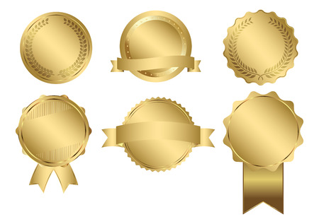 Illustration pour Badges of Gold Seal Set - image libre de droit