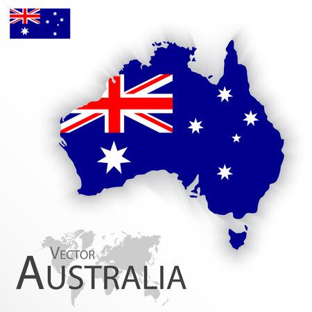 Vektor für Australia ( flag and map ) ( Transportation and tourism concept ) - Lizenzfreies Bild