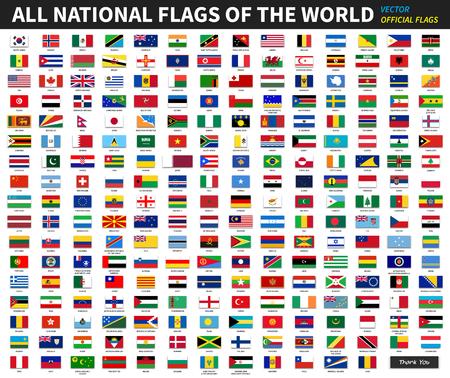 Ilustración de All official national flags of the world . Formal design . Vector - Imagen libre de derechos