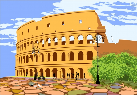 Monument of ancient Rome Colosseum