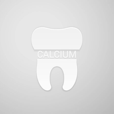 Teeth and inscription calcium