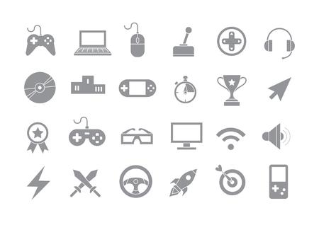 Illustration pour Set of 24 Entertainment gray vector icons - image libre de droit