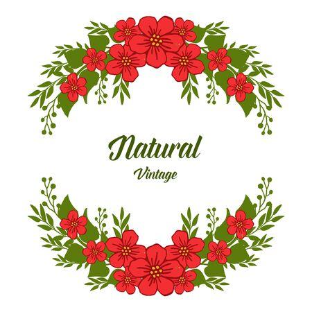 Illustration pour Vintage floral frame design - image libre de droit
