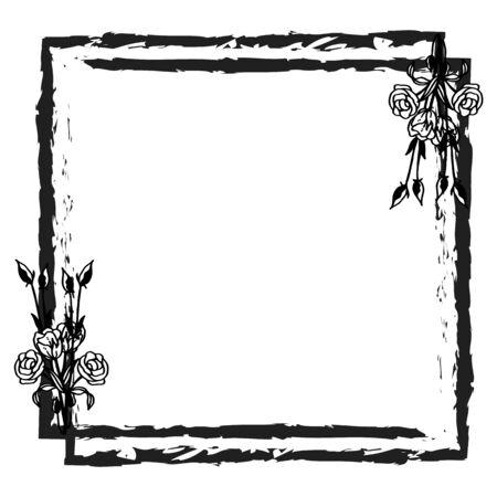 Illustration pour Illustration of flower frame design - image libre de droit
