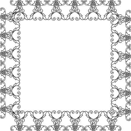 Illustration pour Illustration of floral frame - image libre de droit