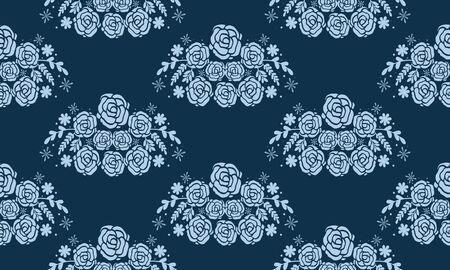 Illustration pour Seamless floral background design - image libre de droit