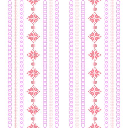 Illustration pour Modern stitches pattern on embroidery design for living room wall decor. Collection - image libre de droit