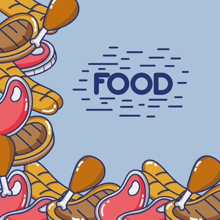 delicious food halthy nutrition background design