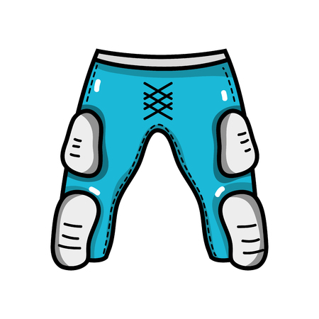 thigh and knee pads to protection clothes vector illustration