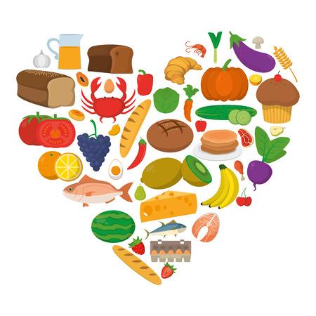 Ilustración de food pyramid with diet nutritional products vector illustration - Imagen libre de derechos