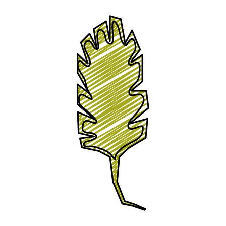 doodle nature spring leaf tropical style vector illustration