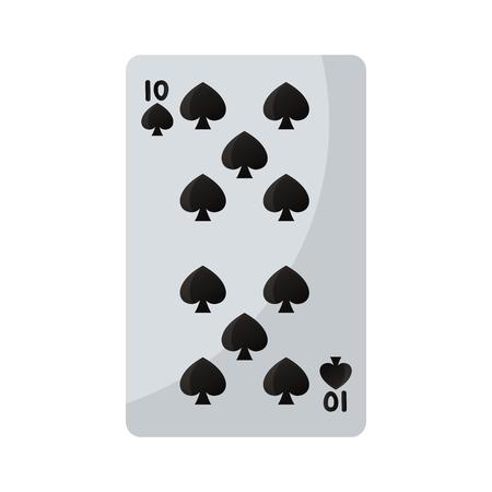 ten pikes casino card game vector illustration
