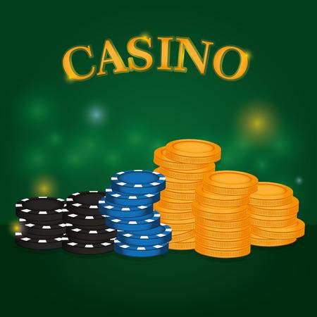 Poker game concept vector illustration graphic design