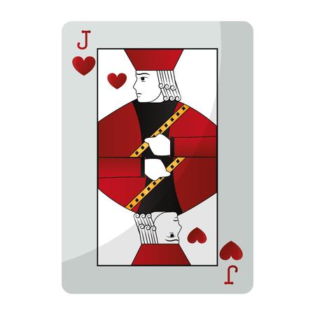 jack hearts casino card game vector illustration