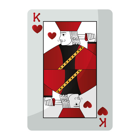 king heart casino card game vector illustration