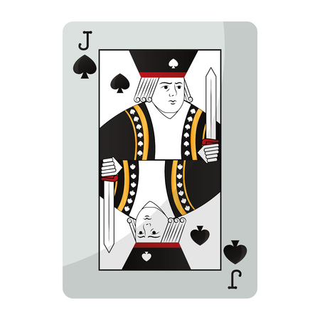 jack spades casino card game vector illustration