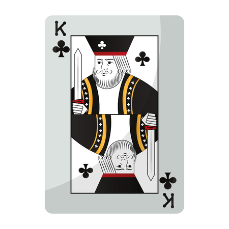 king clubs casino card game vector illustration