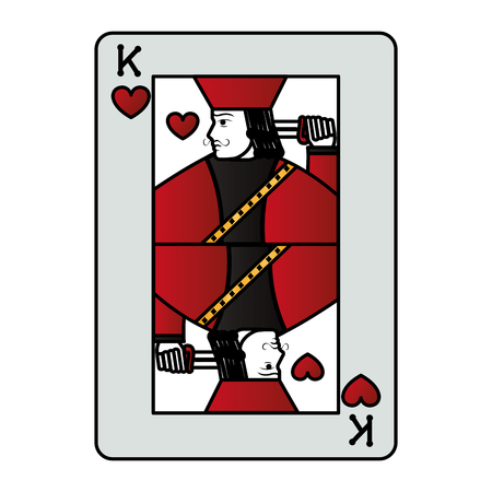 color king heart casino card game vector illustration