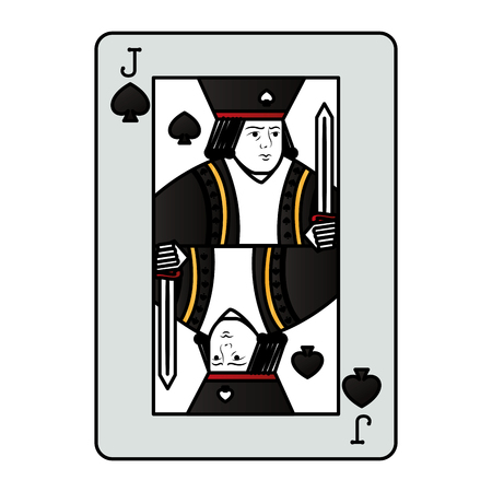color jack spades casino card game vector illustration