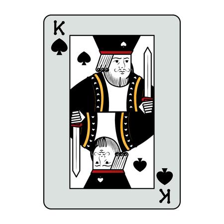 color king spades casino card game vector illustration