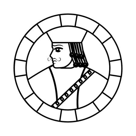 line jack symbol poker card game