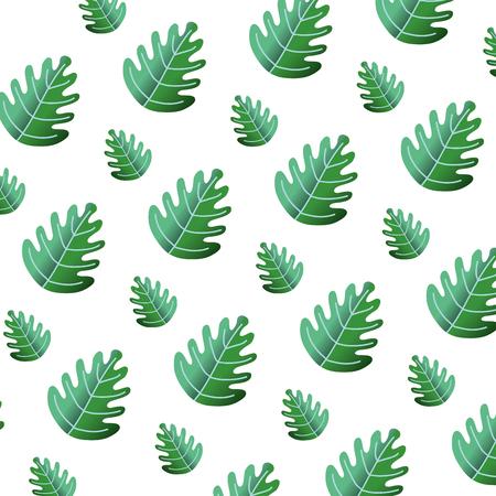 tropical leaf botany nature background vector illustration