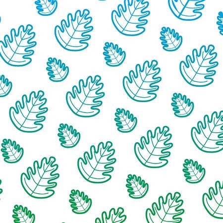 degraded line tropical leaf botany nature background vector illustration