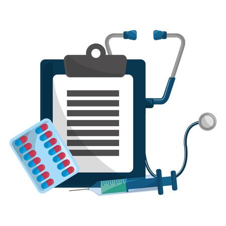 Illustration pour History design, Concept of medical health care hospital emergency and clinic Vector illustration - image libre de droit