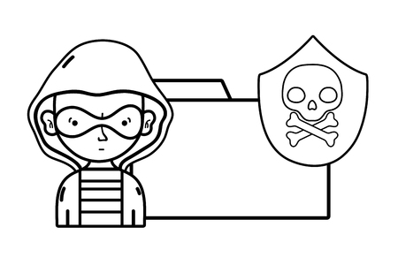 Security system icon set, Warning protection danger web and alert theme Vector illustration