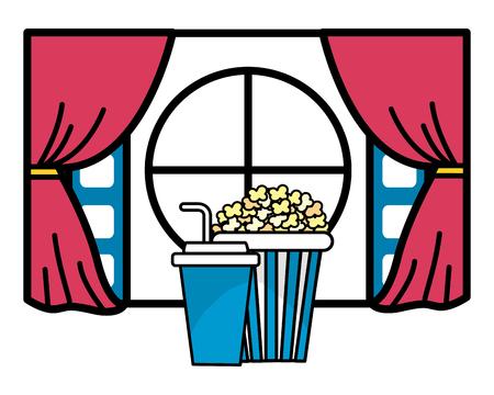 Illustration pour Icon set design, Cinema movie video film media entertainment show and premiere theme Vector illustration - image libre de droit