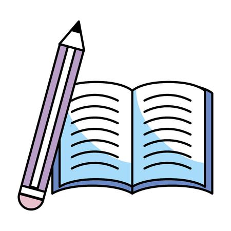 Illustration pour book and pencil vector illustration graphic design - image libre de droit