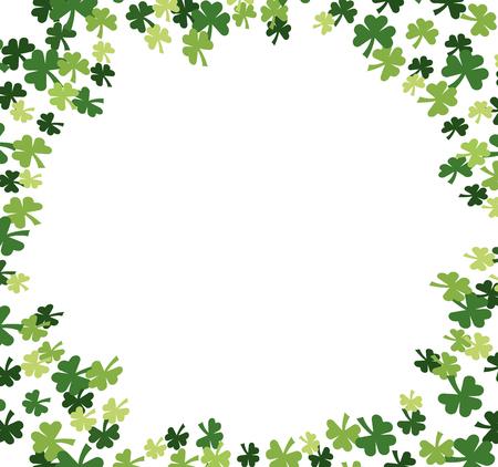 Illustration pour st patricks day clover pattern cartoon vector illustration graphic design - image libre de droit