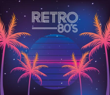 Illustration pour 80s retro style word - image libre de droit