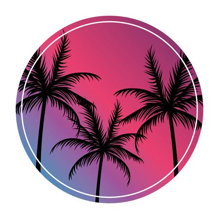 Illustration pour beach landscape retro - image libre de droit