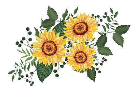 Illustration pour Spring floral decorative frame with flowers leaves vector illustration graphic design - image libre de droit