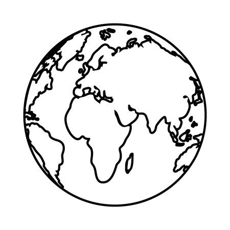 Illustration for world map cartoon vector illustration graphic design - Royalty Free Image