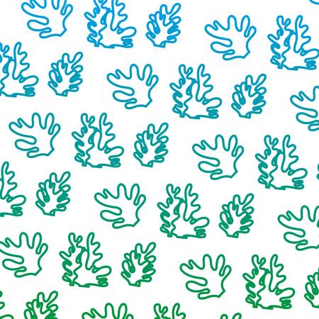 Illustration pour degraded line exotic seaweed nature plant background vector illustration - image libre de droit