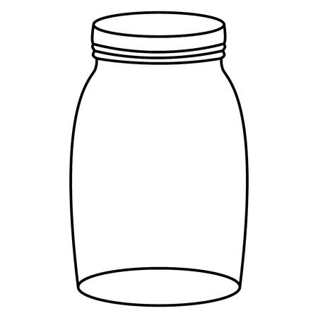 Illustration pour mason jar glass with lid - image libre de droit