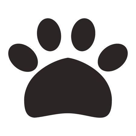 Illustration pour paw print pet icon - image libre de droit