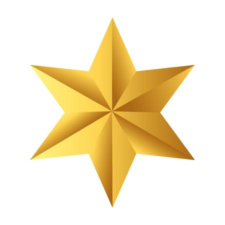 Illustration for star icon cartoon - Royalty Free Image