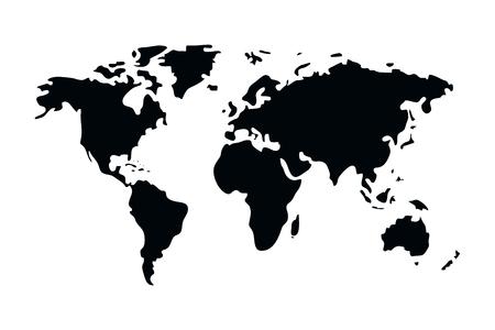 Illustration pour world map cartoon vector illustration graphic design - image libre de droit