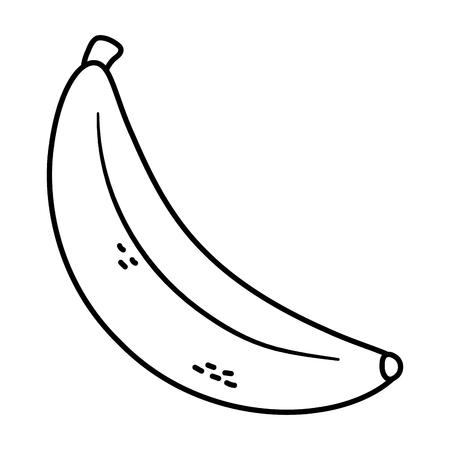 Illustration pour delicious tasty food fruit banana cartoon vector illustration graphic design - image libre de droit