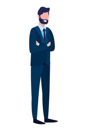 Illustration pour labor day job career business executive man cartoon vector illustration graphic design - image libre de droit