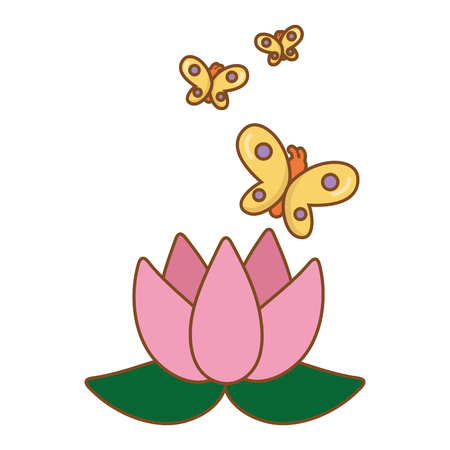 Illustration pour blossom and buttlerfly icon cartoon vector illustration graphic design - image libre de droit