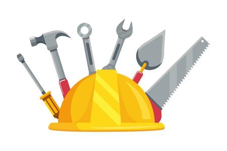 Illustration pour construction architectural tools cartoon vector illustration graphic design - image libre de droit