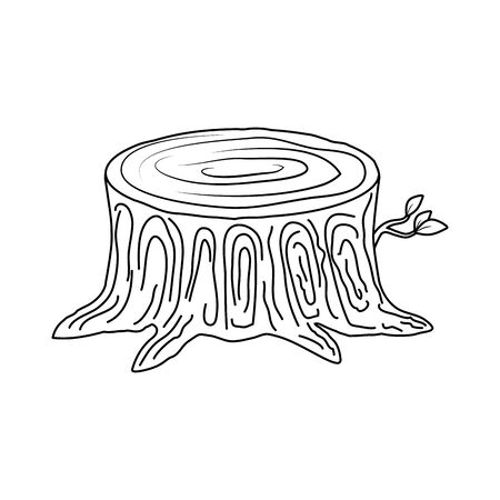Illustration for tree trunk cut icon vector illustration design - Royalty Free Image