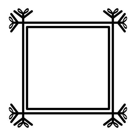 square frame decorative boho style