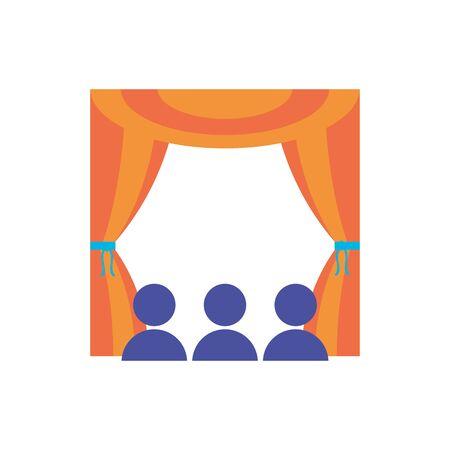 Illustration pour Isolated theatre flat design - image libre de droit