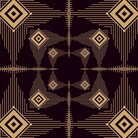 Illustration pour black background art deco frames - image libre de droit