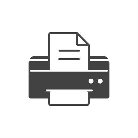 Illustration pour office equipment paper printer supply silhouette on white background - image libre de droit